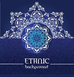 ornamental snowflake background vector image