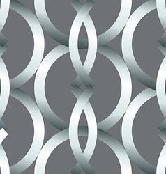 Seamless bold silver rings geometrics pattern vector image