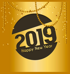 2019 happy new year greeting card vector