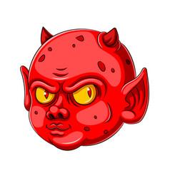 A baby devil cartoon character vector
