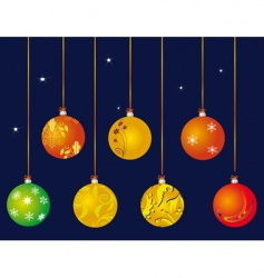 A set of christmas ball vector