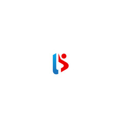 abstract man b initial logo vector image