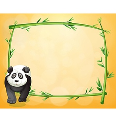 an empty stationery with a bamboo frame vector image