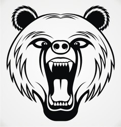 Angry Bear Head Tribal vector