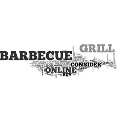 Barbecue buy grill online text word cloud concept vector
