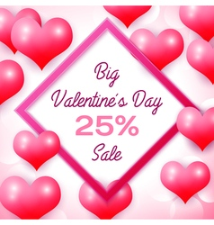 Big Valentines day Sale 25 percent discounts with vector