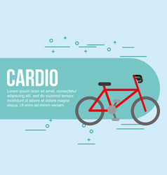 bike sport cardio healthy vector image