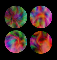 bright holographicgradient round frames set on vector image