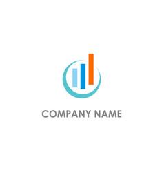 Business finance chart progress logo vector
