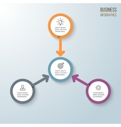 Business infographics Diagram for presentation vector