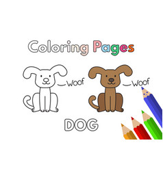 cartoon dog coloring book vector image