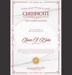 Certificate or diploma retro vintage design 2 vector