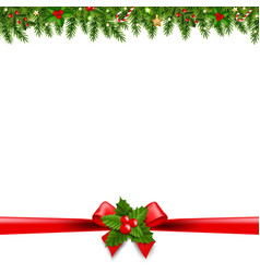 Christmas borders transparent background vector