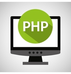 Computer web development php vector