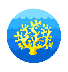 coral icon summer vacation vector image