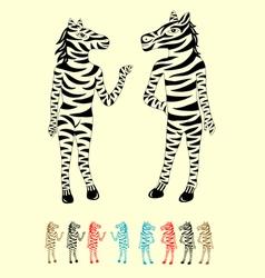 Couple Zebra vector