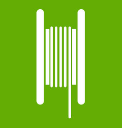 electric cable in coil icon green vector image