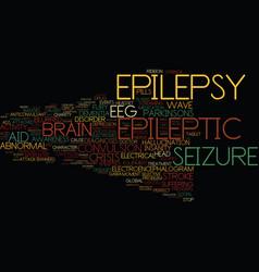 Epileptic word cloud concept vector
