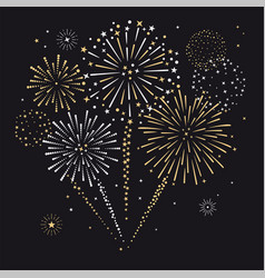 Fireworks sign icon vector