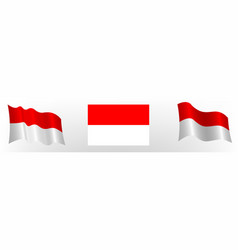 Flag republic indonesia in a static vector