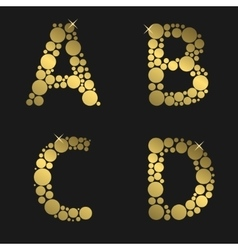Golden letter set vector image