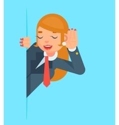 Gossip Girl Listen Overhear Spy Out Corner Cartoon vector
