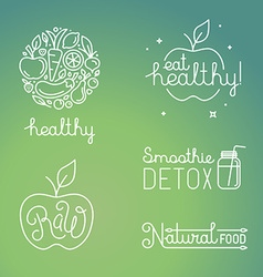 healthy food and organic fruits concepts vector image