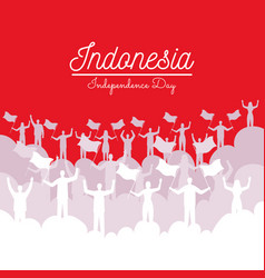 Indonesia independence design vector