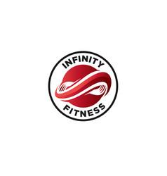 infinity fitness vector image