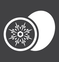 Kiwi solid icon fruit and diet graphics vector