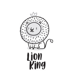 lion king in outline ideal vector image