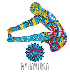 mahamudra pose in yoga vector image