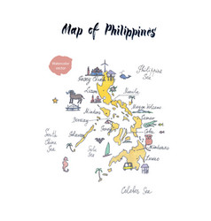 Map philippines watercolor vector