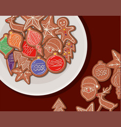Merry christmas cookies design vector