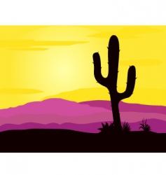 Mexico desert vector image