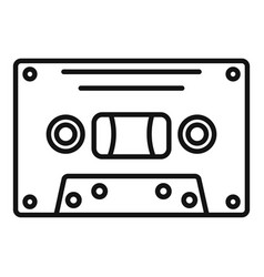 Music cassette icon outline style vector