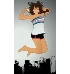 music jump vector image