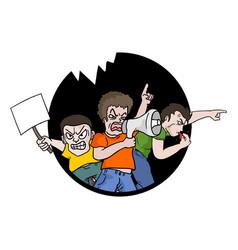 Protest symbol vector