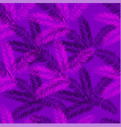 Purple and pink palm seamless pattern vector