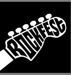 Rock fest lettering vector