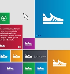 Running shoe icon sign buttons Modern interface vector