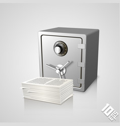 Safe with documents vector