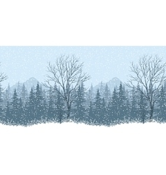 Seamless winter landscape vector
