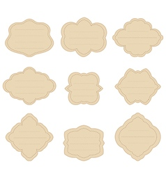 Set vintage labels stickers frames for text Elegan vector image