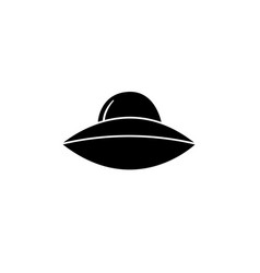 silhouette of a spaceship ufo vector image