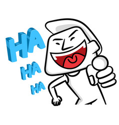 smiling white man cartoon vector image
