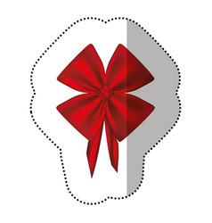 sticker satin shiny ribbon with tape holding vector image