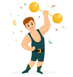 strongman in a circus with a barbellcircus vector image