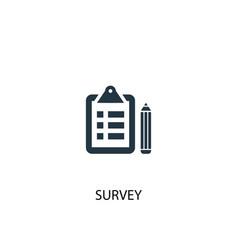 survey icon simple element survey vector image