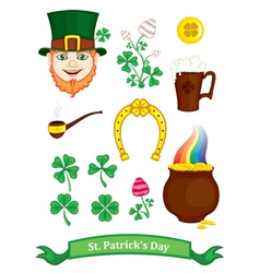 symbols of st patricks day vector image